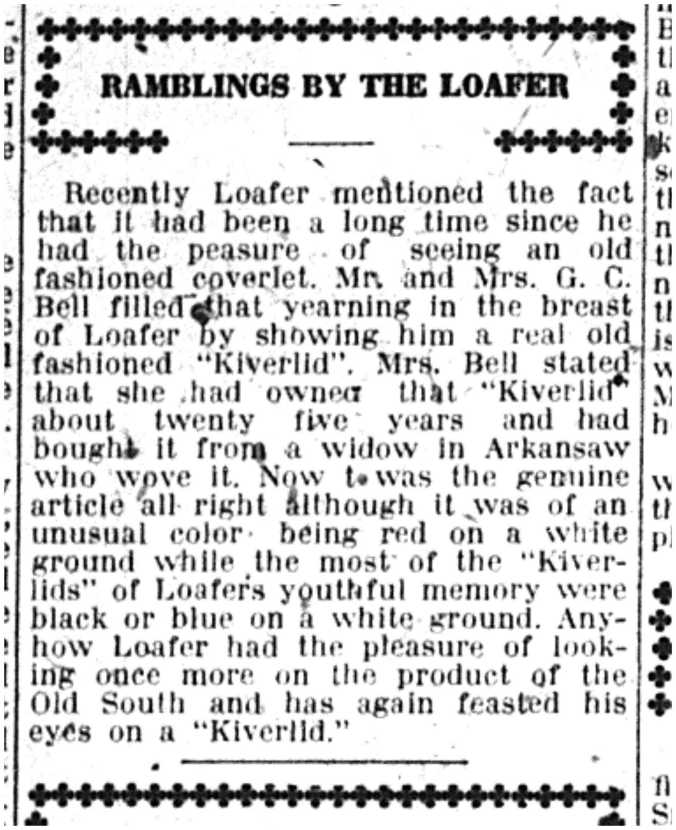 Ramblings by the Loafer 22 Oct 1918