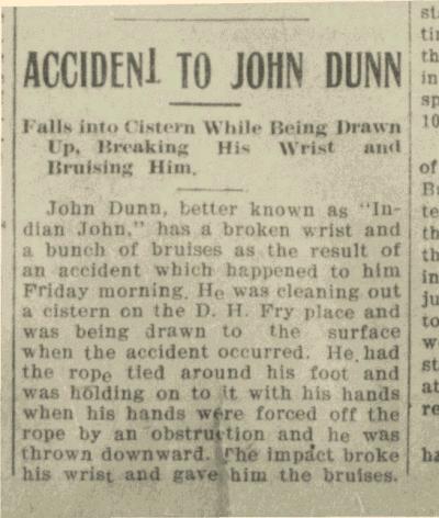John Dunn 22 Oct 1909