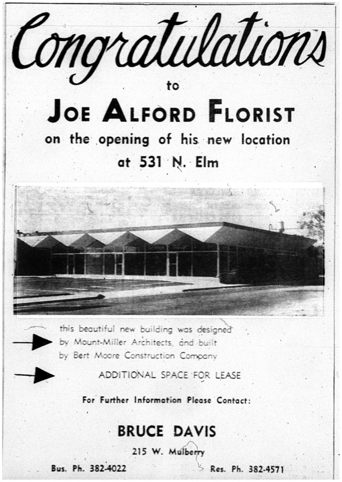 Joe Alford Florist 28 Nov 1965