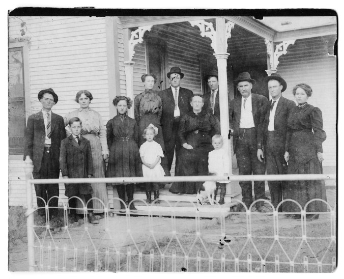 The Wiggs family at the Z. Wiggs  home on Blount Street in Denton, Texas.