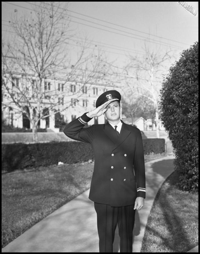 Lt. (jg) Bert Moore in uniform, c1942-43.